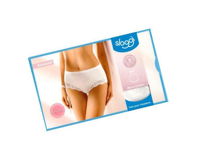 Sloggi Romance sensitive Maxi micro cotton hvid str 42