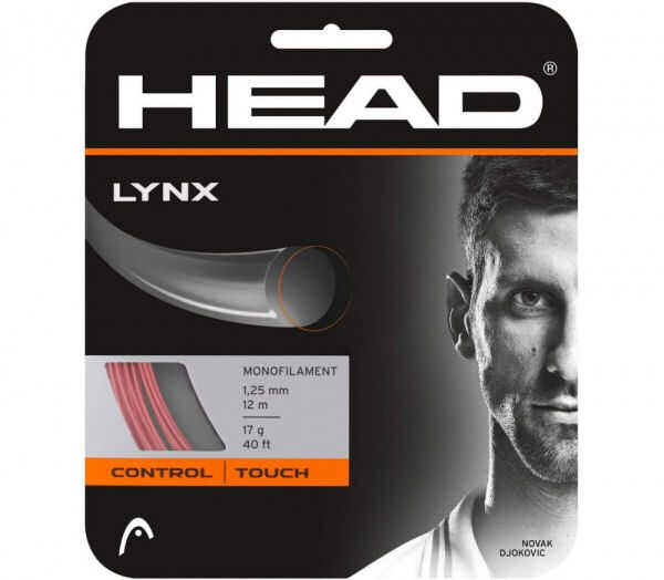 Head lynx monofilament 1,25mm 12m 17g 40ft novak djokovic