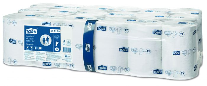 Tork T7 472199 Mid-size Toiletpapir uden hylster 2-lags advanced