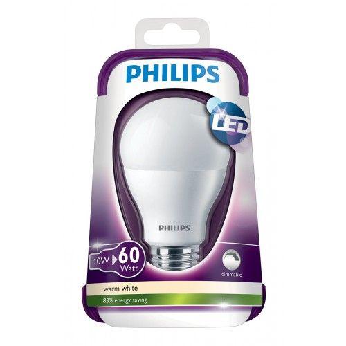 Philips LED varm hvid 10,5 W (60W)