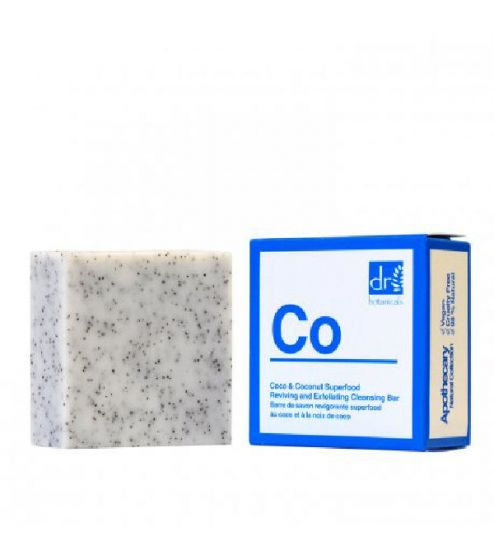 Dr. botanicals coco & coconut superfood reviving and exfoliating cleansing bar 100g