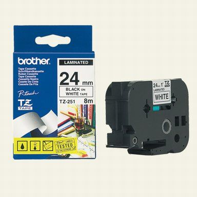 Brother TZ-251 24mm sort p