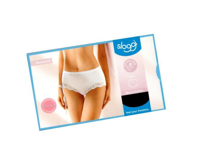 Sloggi Romance sensitive Maxi micro cotton sort str 44