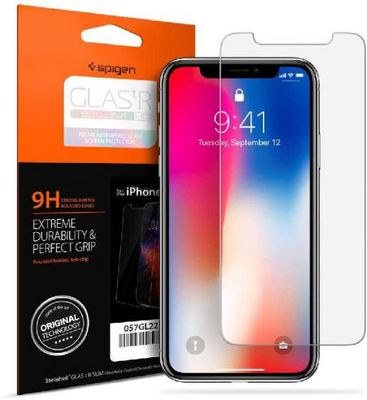 Spigen glas.tr slim HD premium tempered glass screen protector for iphone Xs/X