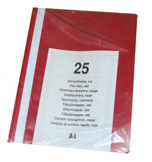 Tilbudsmapper A4 pk. á 25 stk røde