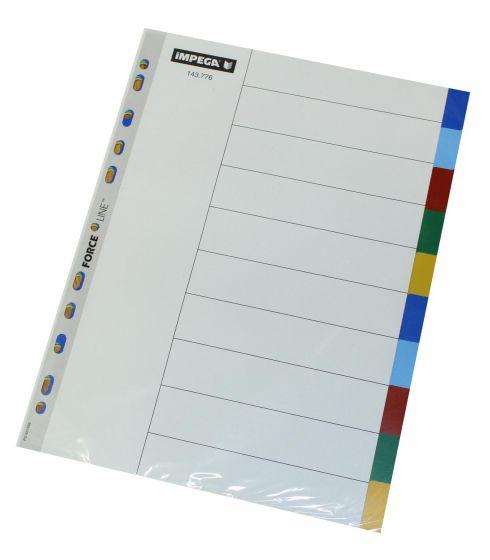 Register Imgega A4 10 faner i farver