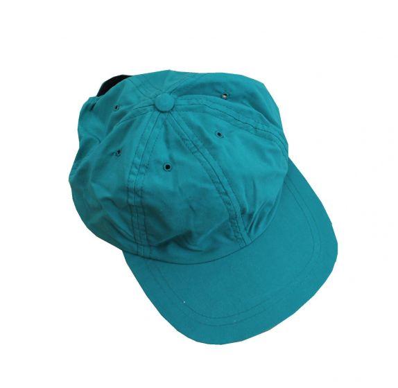 Backtee kasket i grøn str. Onesize (justerbar velcro luk)