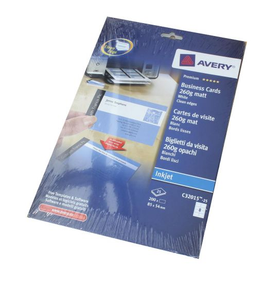Avery Business cards C32015  85 x 54mm