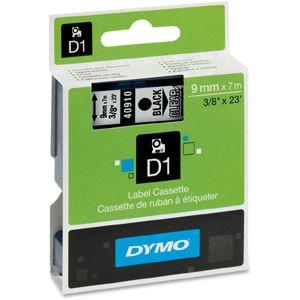 Dymo D1 40910 9mm x 7m sort på klar