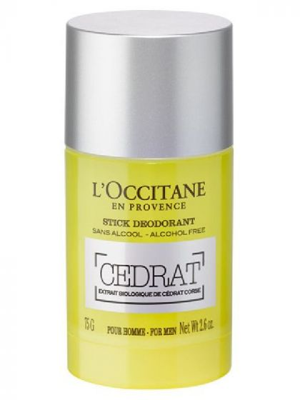 L'occitane en provence stick deodorant cedrat for men 75g