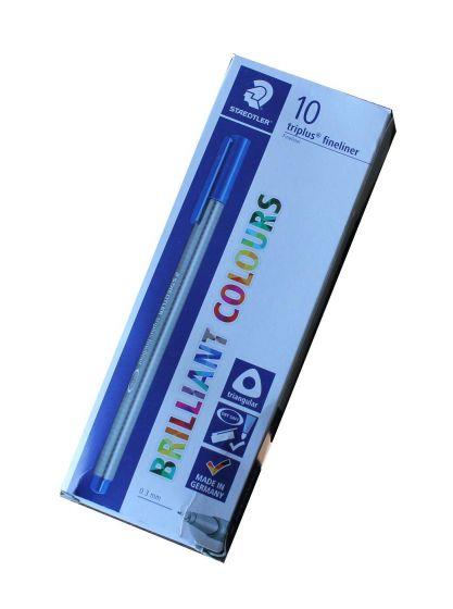 Staedtler briliant colours triplus fineliner 0,3mm blå pk a 10 stk