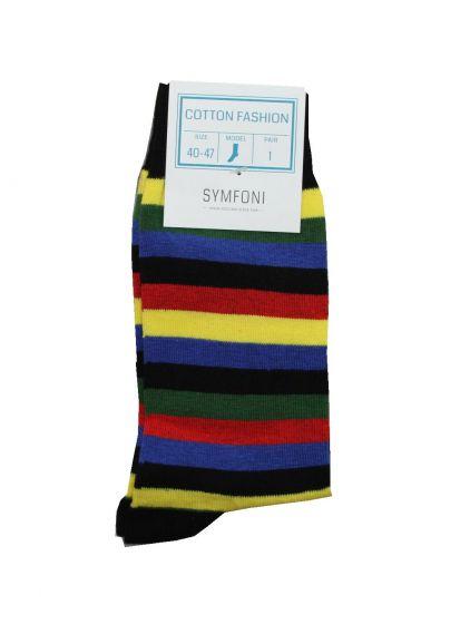 Symfoni sokker i Flerfarvet/Stribet Str. 40-47