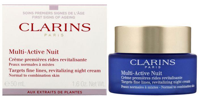 Clarins paris multi-active nuit targets fine lines revitalizing night cream 50ml