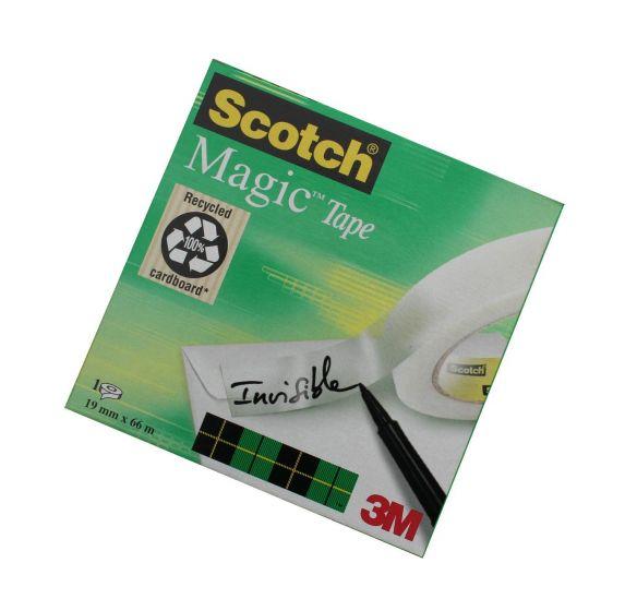 Scotch Magic tape 19mm x 66m (til borddispenser)