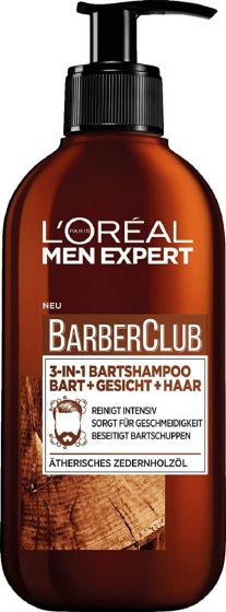L'oréal paris men expert barberclub 3-in-1 bartshampoo 200ml