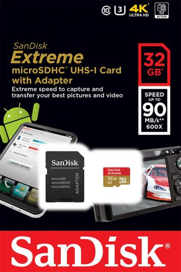 Sandisk Extreme microSDHC UHS-I 32gb/90MB/s class 10