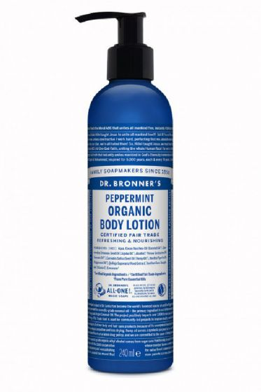 Dr. Bronner's peppermint organic body lotion 240ml
