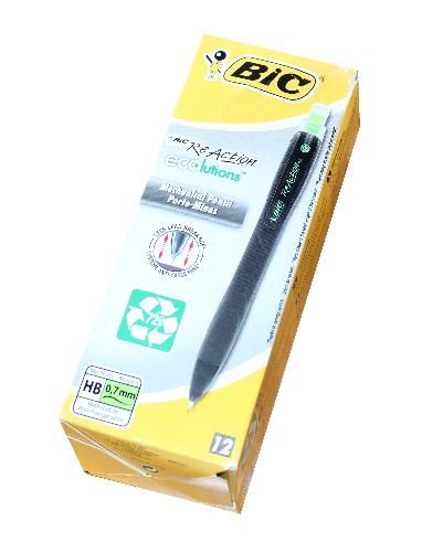 BIC ReAction trykblyant 0,7mm HB pk. á 12 stk