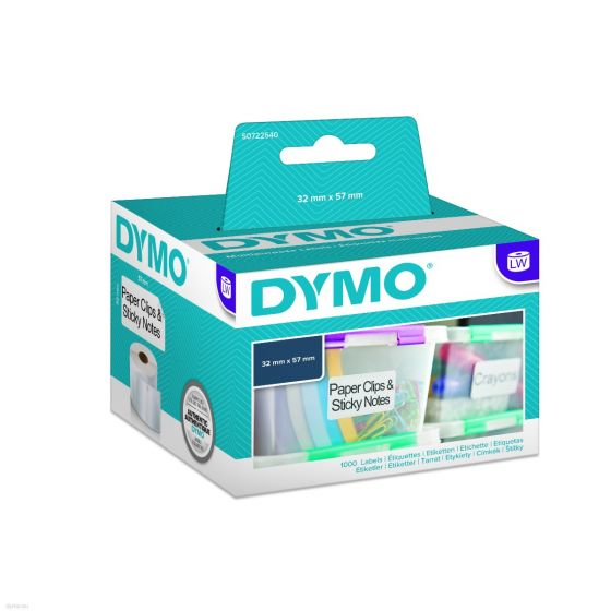 Dymo S0722540 Removable Labels 32x57mm