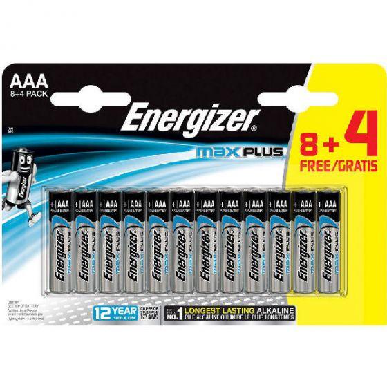 Energizer batteri max plus AAA 12pk.