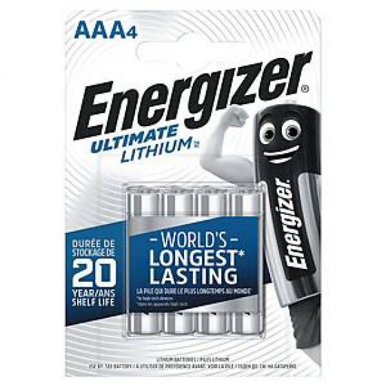 Energizer batteri ultimate lithium AAA 4pk.