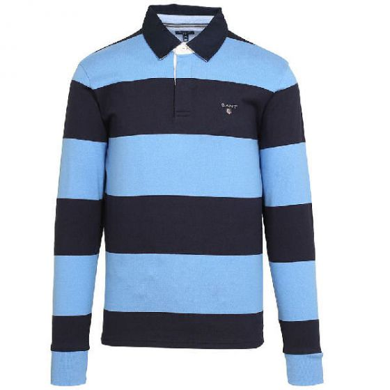 Gant polo the original barstripe heavy rugger i Pacific Blue Str. X-Large