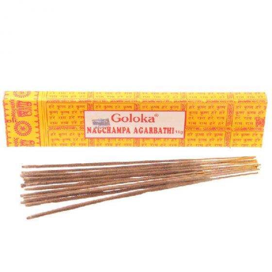 Goloka nagchampa agarbathi 16g (røgelsespinde)
