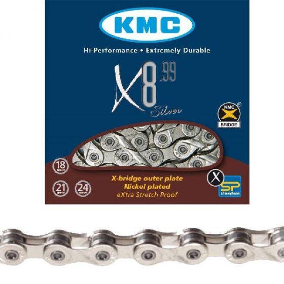 KMC X8.99 silver cykelkæde