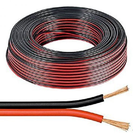 Manax speaker cable black/red 2x1,5mm 30m