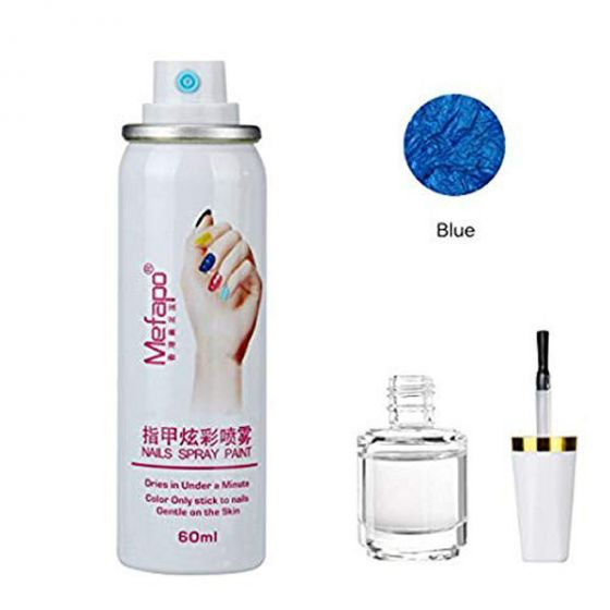 Mefapo nails spray paint blue 60ml