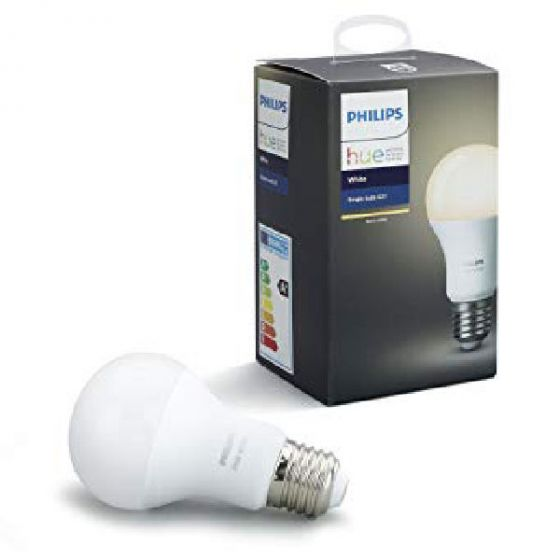 Philips hue single bulb E27 warm white 806 lumen 9w 2700K