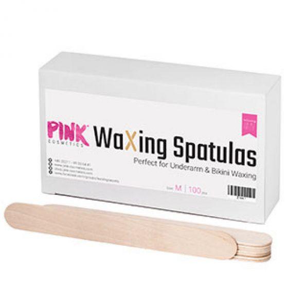 Pink cosmetics waxing spatulas perfect for underarm & bikini waxing medium 100pcs