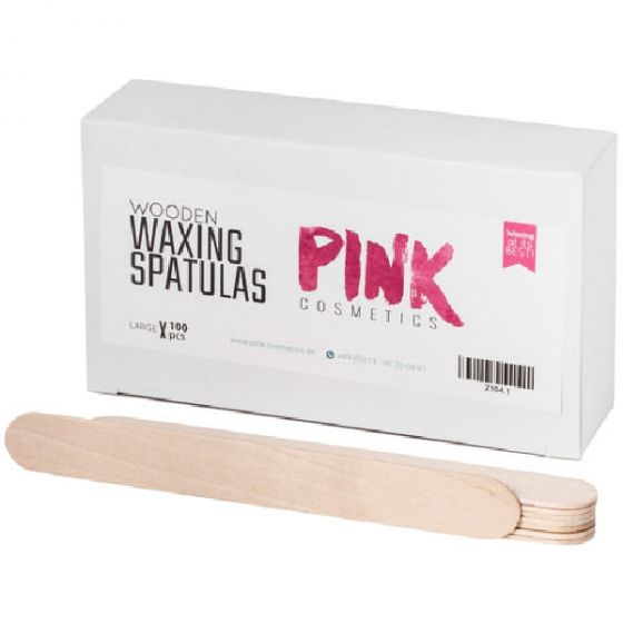 Pink cosmetics wooden waxing spatulas large 100pcs