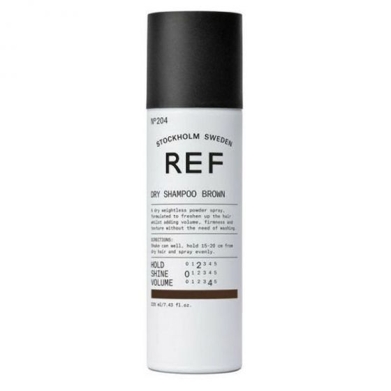 REF stockholm sweden dry shampoo brown no. 204 220ml