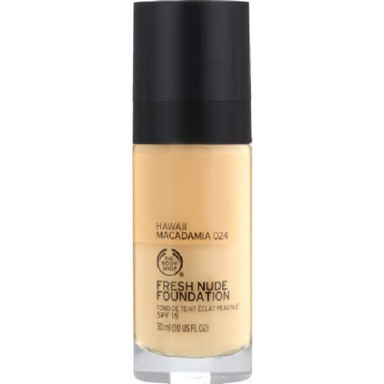 The body shop fresh nude foundation SPF15 hawaii macadamia 024 30ml