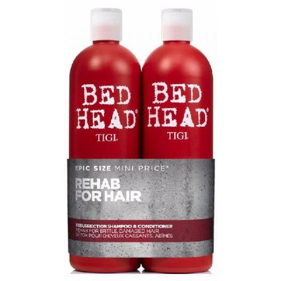 Tigi bed head rehab for hair resurrection shampoo & conditioner 2 x 750ml