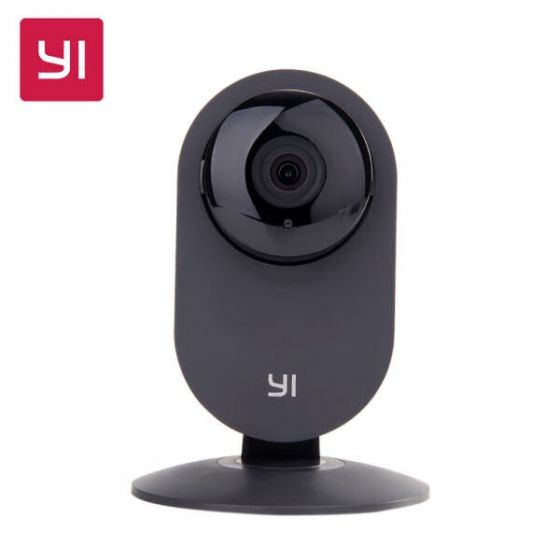 YI home camera 720p HD wide-angle lens 2-way audio infrared night vision black