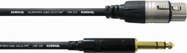 Cordial intro short balanced patch cable CFM 1,5 MV