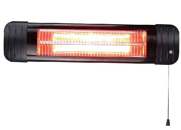 Termo black line wall-mounted infrared heater 1500W golden tube