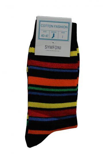 Symfoni sokker i Stribet/Flerfarvet Str. 40-47