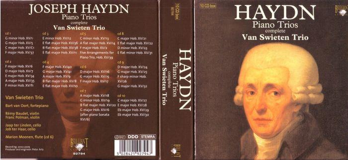 Cdbox haydn - piano trios complete van swieten trio 10 cd'er