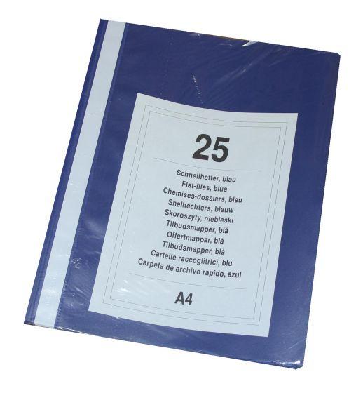 Tilbudsmapper A4 pk. á 25 stk blå