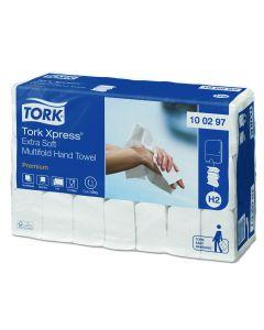Tork Xpress H2 100297 Extra Soft Multifold Håndklædeark,Premium