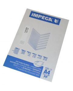 Plastic chartek Impega A4 100 stk transperent