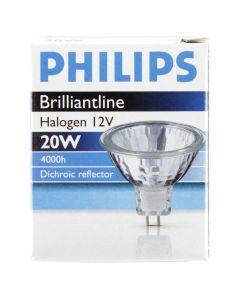 Philips Brilliantline Dichroic reflector GU 5.3 halogen 12V 20W 36Gr. Ø50mm