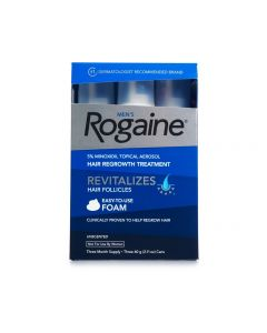 Rogaine hair regrowth treatment revitalizes hair follicles 3 month supply (Dato)