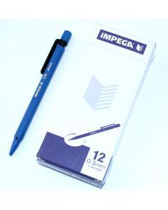 Impega trykblyant 0,5mm blå æske med 12 stk