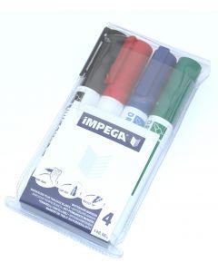 Impega whiteboard marker 4 stk