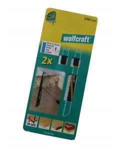 Stiksavsklinger 2 x HCS 80/61mm Wolfcraft 2301000