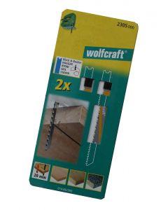 Stiksavsklinger 2 x HCS 80/61,5mm Wolfcraft 2305000